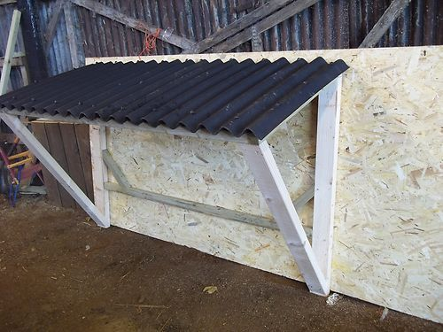 Firewood Storage Shelter : How to make a firewood shelter woodworking projects plans