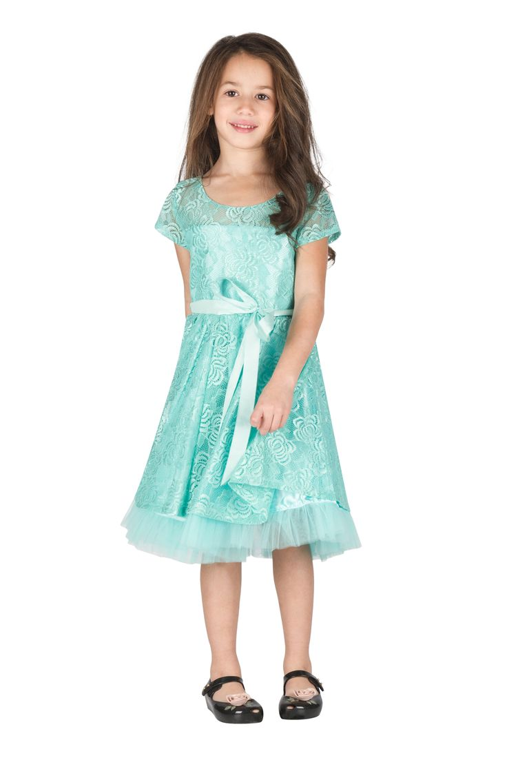Turquoise Dress   #chic #fashion #wow #girl #children #special #holidays