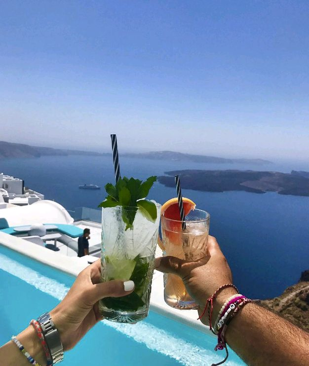 "Let's drink to the new week! ""Geia mas!"" 🍹🍸  (credit: @annamavridis )"