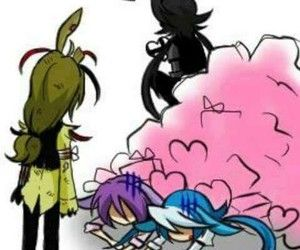 "The ship is suck. Shadow is stealing some of the heart things. And spring is looking at them like ""wtf happened"". XD"