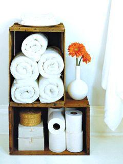 Easy, cute, CHEAP storage for the bath!