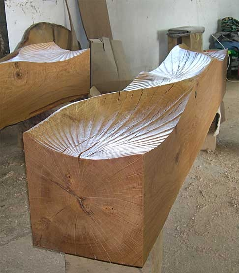 """""""Kissing Bench """" seat by Alison Crowther 2006"""