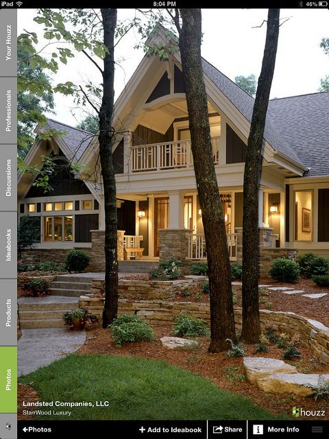 Beautiful porch and landscaping.