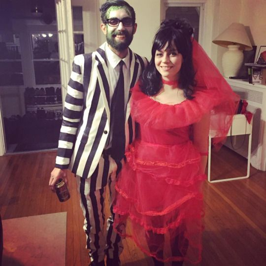 How to make a painted Beetlejuice suit by Lady Katie Crafts