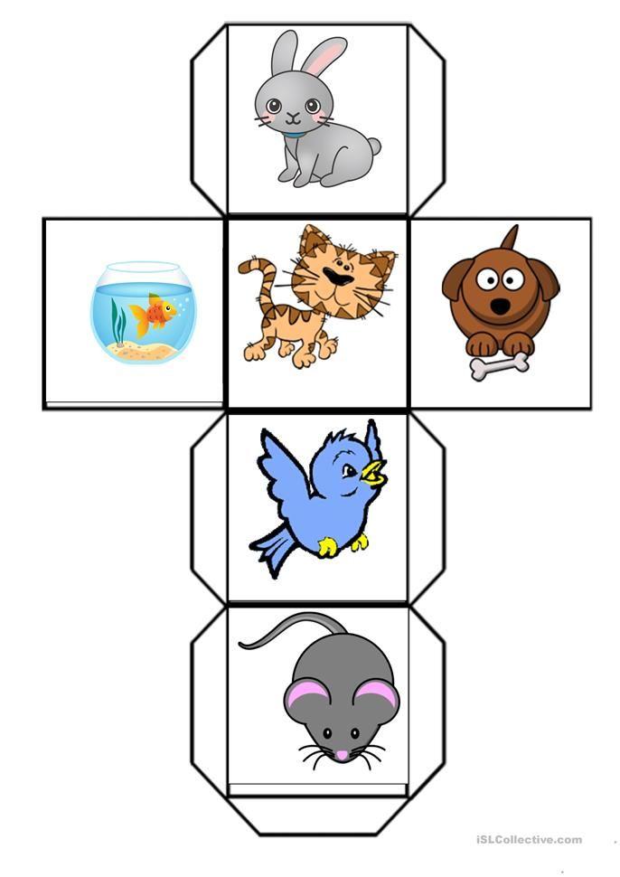 Pet Animals Dice Worksheet Free Esl Printable Worksheets Made By Teachers Shapes Kindergarten Preschool Activities Farm Animals Preschool