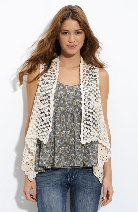 Free Crochet Pattern Lace Vest : 1000+ images about crochet vest patterns on Pinterest ...