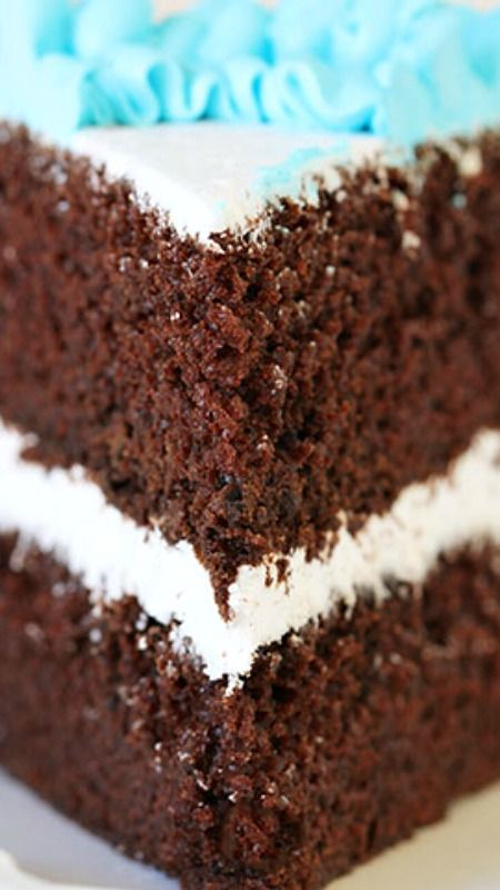 Homemade Chocolate Cake Recipe ~ So moist. So rich. So perfect... This is the best!