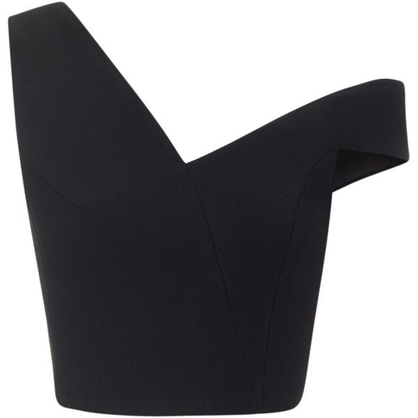 Maticevski Black Cropped Emotive Bustier found on Polyvore