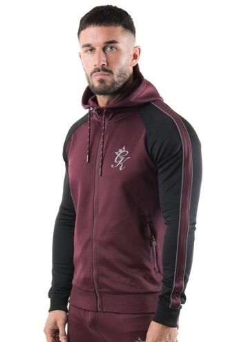 Gym King Poly Tracksuit Top Reflective - Wine/Black