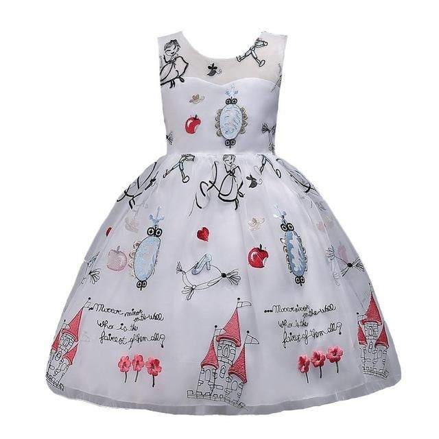 Girl's Embroidered Party Dress