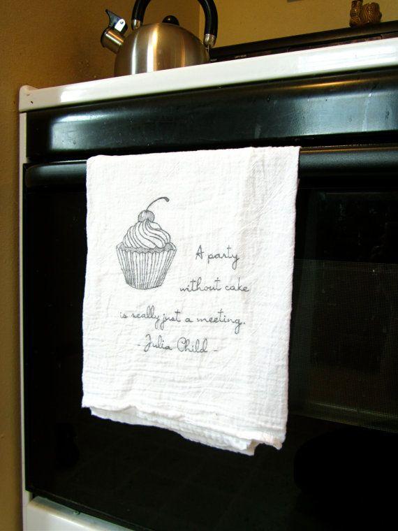 Julia Child Quote Towels