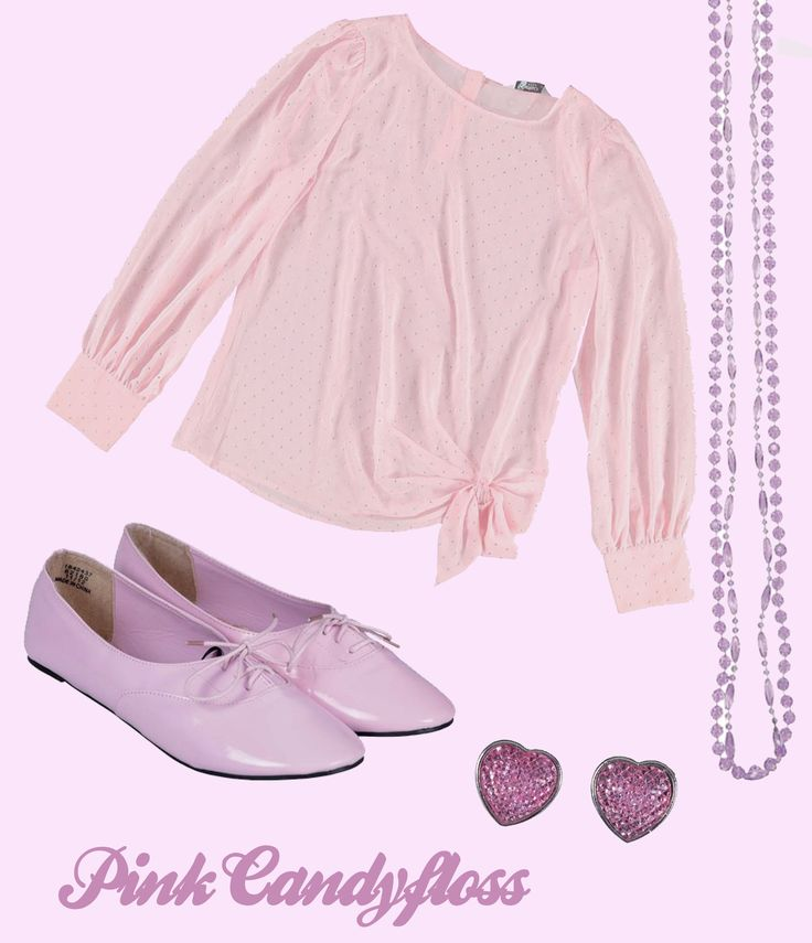 Kelso Pink Blouse, Edgars Pink Heart Earings, Edgars Purple Necklace, Free2BU Lace Pumps (All available @ Edgars)