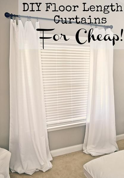 DIY: Floor Length Curtains For Cheap using Bed, Bath & Beyond Tablecloths // Liz Marie Blog