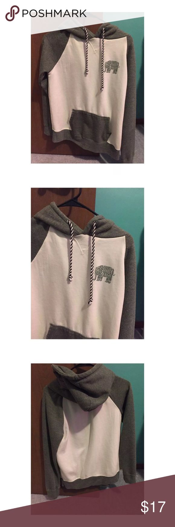 Medium Zumiez women's elephant hoodie Medium women's zumiez. Trillium Chase Olive & Cream Hoodie. Worn once. No rips or stains. moke free! No trades. Sorry I don't hold items. I can't model. NO FREE SHIPPING! FIRM on price! This is my lowest! Zumiez Tops Sweatshirts & Hoodies