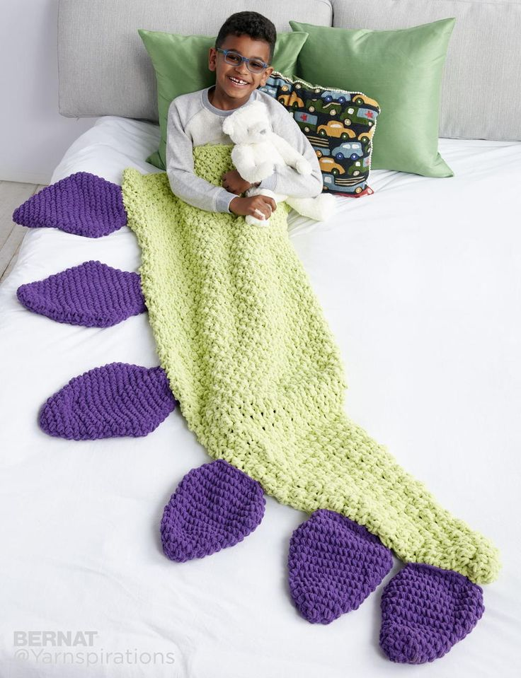 Dino-mite! Dinosaur Tail Snuggle Sack - a fun play on the ever popular mermaid tail