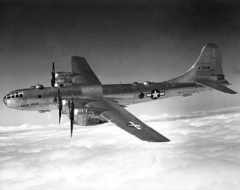 "Boeing B-29 Superfortress bomber ""Ernie Pyle, Tail No. 470188, World War II."