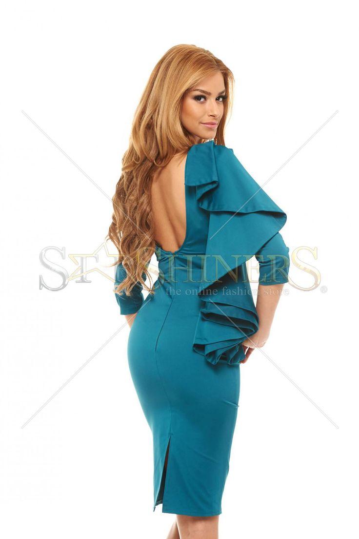 PrettyGirl Portrait Turquoise Dress