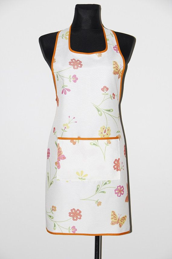 Handmade apron, kitchen apron. Butterfly apron. Pinafore