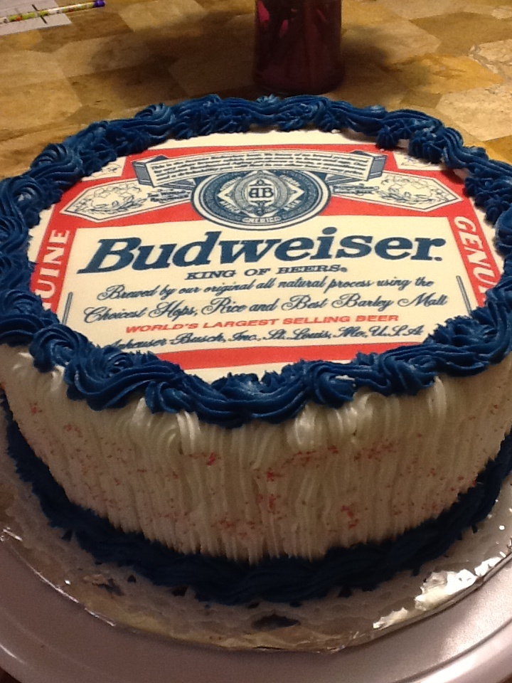Budweiser Cake Cakes Birthday Cupcakes Budweiser Cake