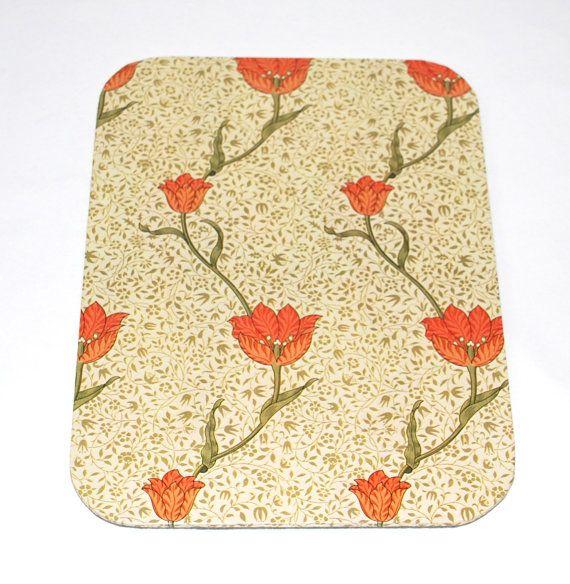 Mousepad Jugendstil Blüten Untersetzer Ablage handmade von Arsunica, €9.00