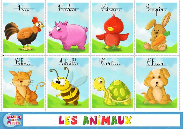 Apprendre les animaux cartes imprimer ducation pinterest apprendre les animaux les - Animaux a imprimer en couleur ...