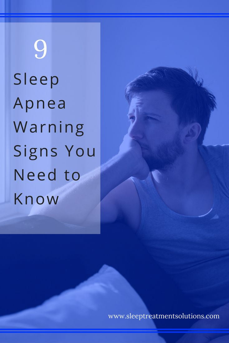 Know and recognize the signs of sleep apnea!