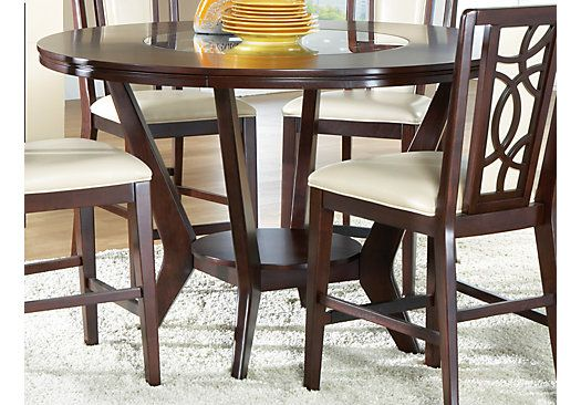 rooms to go dining room table | Cindy Crawford Home Highland Park Ebony Round Counter ...