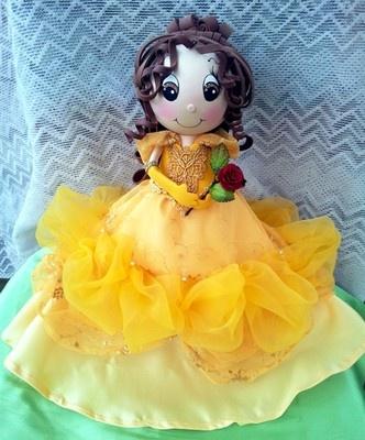 Twag Rosa Disney Belle Beauty and The Beast Fofucha Doll Fofuchas Craft Foam   eBay