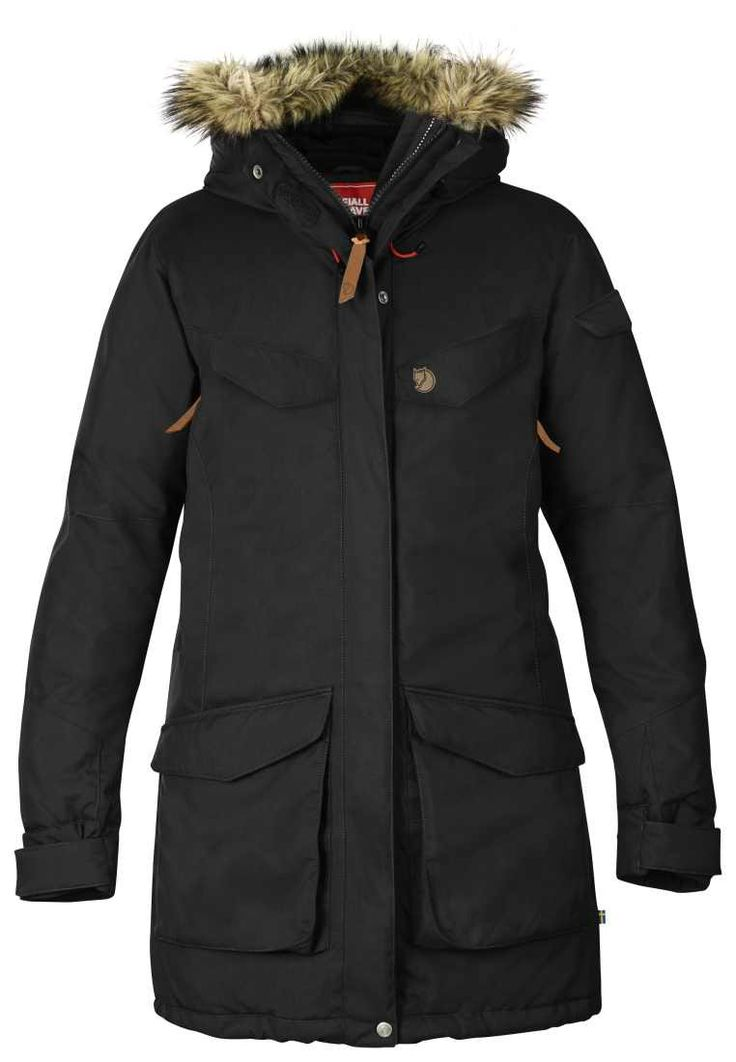 Fjällräven Damen Parka Mantel Nuuk Parka Women in schwarz Outdoor-Bekleidung Damen Jacke Hard-Shell