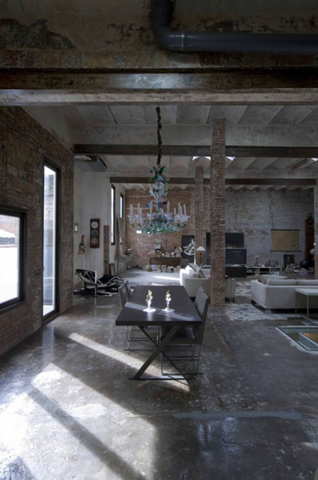 Best Loft Images On Pinterest Industrial Home Design - A loft with industrial design by russian designer maxim zhukov