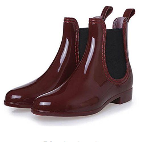 Mode Wasserdichte Stiefel Wein-Rot