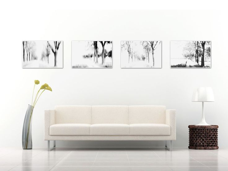 Complete series of 4 charcoal like impressionist limited edition photos
