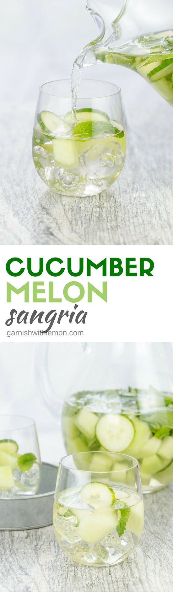 This Cucumber Melon Sangria is one of our favorite white sangrias because it is so light and refreshing. Plus it's made in advance - perfect for parties!