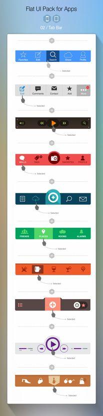 iOS7 Tab bar — Designspiration