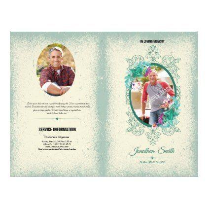 Memorial Funeral Program Flyer - template gifts custom diy customize