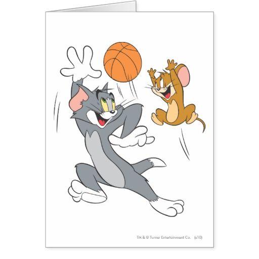 Baloncesto 1 de Tom y Jerry #tarjeta #greeting #card