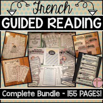 FRENCH GUIDED READING PACKAGE - 155 PAGES! (LECTURE GUIDÉE