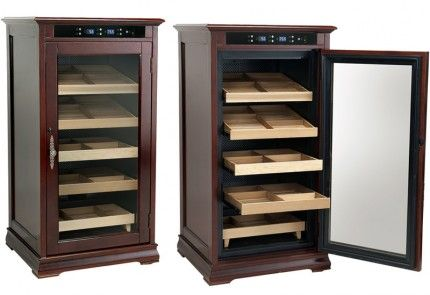 The Redford Electronic Humidor Cabinet - Climate & Humidity Controlled