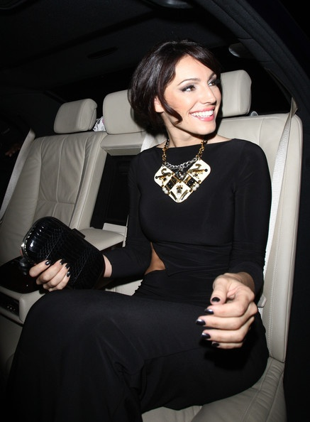 Kelly brook in a Philip Lim necklace