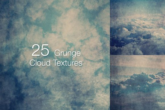 Check out 25 Grunge Cloud Textures by laurentzziu on Creative Market