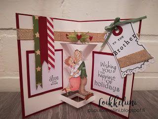 Art Impressions: Ai Spinners ... Love Spinner #4571 Handmade Christmas card.