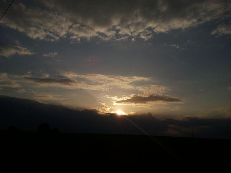 Sunset and big sky