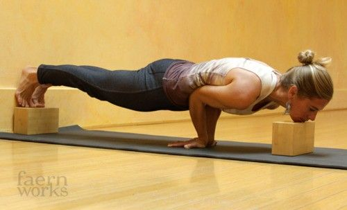 hippieyogi:    If you're working towards Mayurasana, this is an awesome prep! Blocks are so helpful in so many postures, especially these more challenging asanas!