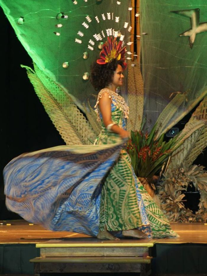Miss Png Abigail Havora Dress Designed By Wantok