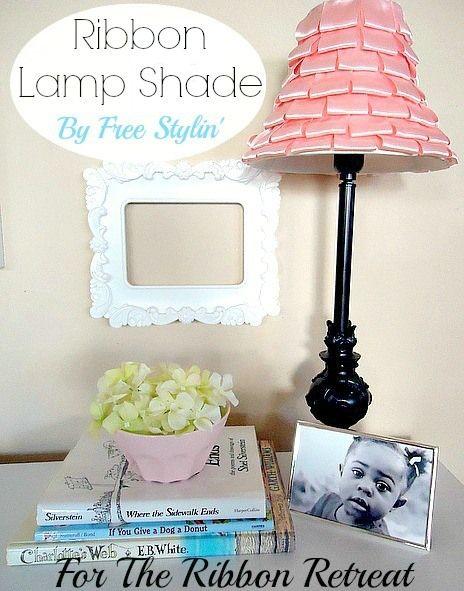 Ribbon Lamp Shade Tutorial - The Ribbon Retreat Blog
