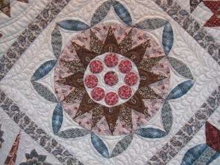 Block from a Di Ford quilt - possibly Wedding Sampler?