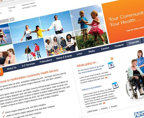 NHS Website Design