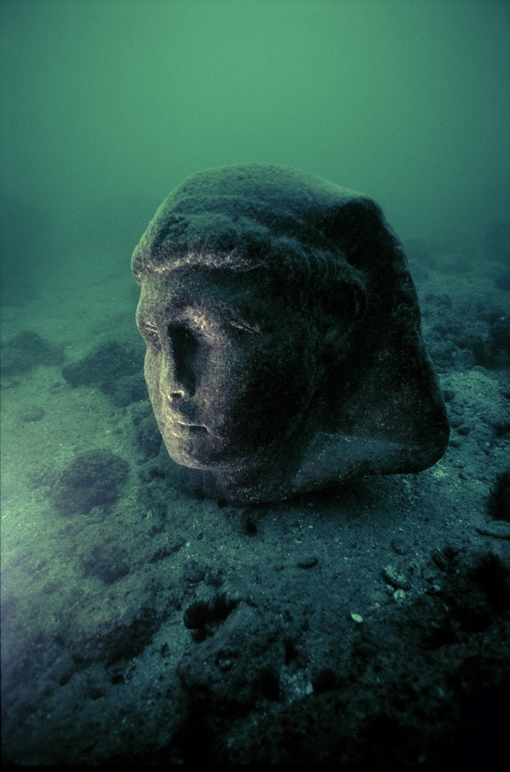 Underwater relics from Cleopatra's lost world...  Franck Goddio/Hilti Foundation, photo: Christoph GerigkAncient History, Alexandria Ancient, Julius Caesar, Alexandria Egypt, Ancient Egypt, Cleopatra Vii, Ancient Artifacts, Granite Head, Ancient Harbor