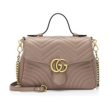 ceb465d9852 marmont leather top handle bag by Gucci. Chevron bag crafted of matelasse  leather. Top handle