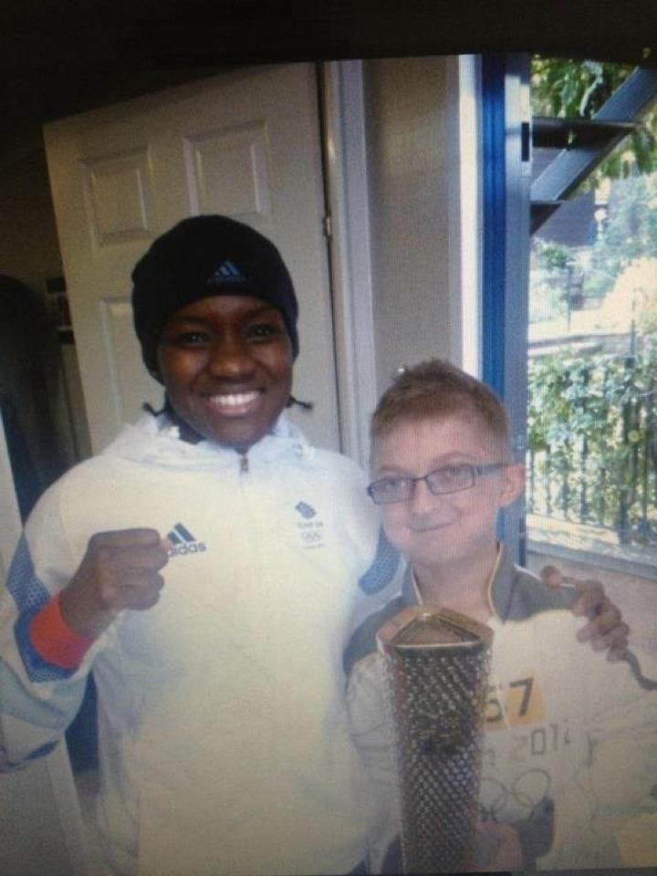 Harry with Team GB's Olympic Gold medalist in Women's Boxing, Nicola Adams.